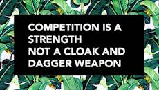 CharityConnect: Competition is a strength, not a cloak and dagger weapon.